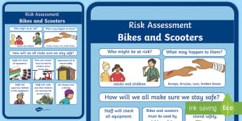Outdoor Bike Safety A4 Display Poster - CfE Outdoor Learning, nature, forest, woodland, playground, safety, risk assessment, rules, poster,S