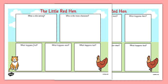 The Little Red Hen Book Review Writing Frame - writing frame, hen
