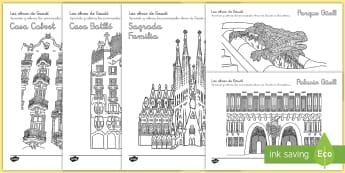 Las obras de Gaudí: aprende - Gaudí, modernismo, arte, proyecto de arte, arquitectura,Spanish