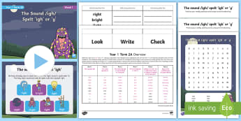 Year 1 Term 2A Week 1 Spelling Pack - Spelling Lists, Word Lists, Spring Term, List Pack, SPaG