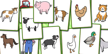Farm Story Telling Prompt Cards - farm, prompt, cards, story