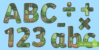 Woodland Creatures Display Letters and Numbers Pack