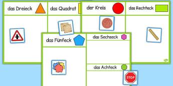 2D Shape Sorting Activity German - german, 2d shape, sorting, activity, sort, 2d, shape