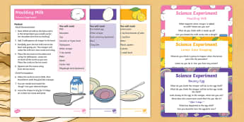 EYFS Pancake Day Science Experiments Resource Pack - EYFS, Pancake Day,February, 28th, Shrove Tuesday, egg, milk, lemon, diffusion, vinegar, acid,