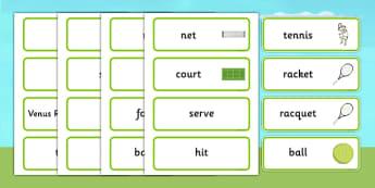 Wimbledon Word Cards - wimbledon, wimbledon championships, wimbledon key words, wimbledon cards, tennis, tennis word cards, tennis key words, sports
