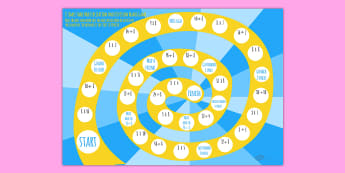 8 Times Table Multiplication And Division Board Game - board game, times table, times tables