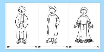 The Prodigal Son Story Colouring Sheets - The Prodigal Son, son, father, prodigal, the lost son, lost, colouring, fine motor skills, poster, worksheet, vines, A4, display, coming back, father and son, jealous, pigs, inheritance, return, party, feast