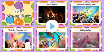 Holi Festival Display Photo PowerPoint - holi, festival, religion
