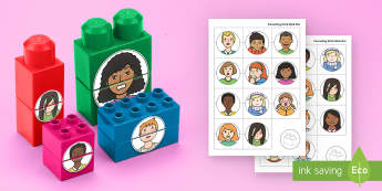 My Emotions Matching Connecting Bricks Game - EYFS, Early Years, KS1, Connecting Bricks Resources, duplo, lego, plastic bricks, building bricks, A