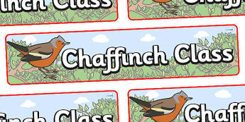 Chaffinch Themed Classroom Display Banner - Themed banner, banner, display banner, Classroom labels, Area labels, Poster, Display, Areas