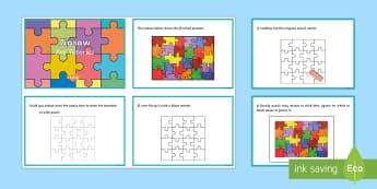 Jigsaw Art Tutorial Step-by-Step Instructions - art, instructions, step by step, tutorial, jigsaw, visual art, design.