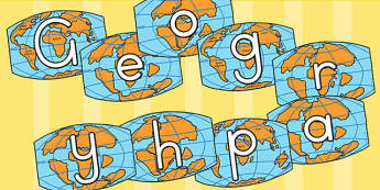 Geography on Maps Display Cut Outs - australia, geography, maps