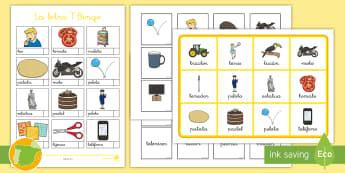 Bingo La letra T Bingo - juego lectoescritura, juego lecto, juego didáctico, lecto, sonidos, lecto-escritura, fonemas, sonid