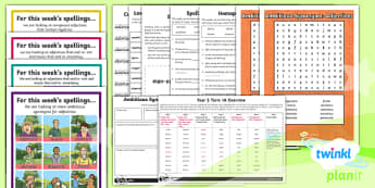 PlanIt Y6 Term 1A Bumper Spelling Pack