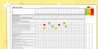 2014 Curriculum UKS2 Years English Reading Assessment Spreadsheet