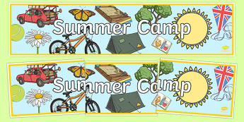 Summer Camp Themed Banner - displays, posters, banners
