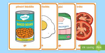 Breakfast Display Posters Gaeilge - ROI - Irish Language Week Gaeilge Resources - 1st-17th March, bricfeasta, breakfast, fry, ispíní,