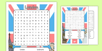 Lovely London Wordsearch - lovely, london, wordsearch, activity