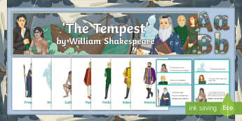 The Tempest Display Pack - The Tempest, William Shakespeare, GCSE English Literature, Prospero, Miranda, Ariel, Caliban, Ferdin
