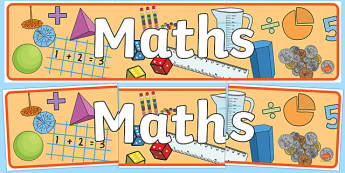 Maths Display Banner - mathematics display banner, maths display banner, maths banner, mathematics display, mathematics, numeracy