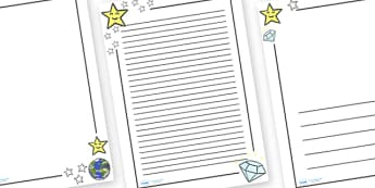 Twinkle Twinkle Little Star Page Borders - Twinkle, Twinkle, Little Star, Literacy, writing, page border, a4 border, template, writing aid, writing border, page template, nursery rhyme, rhyme, rhyming, nursery rhyme story, nursery rhymes, space, Twin