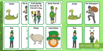 ROI St. Patrick's Day Aistear Role Play Badges - Aistear, Infants, English Oral Language, School, The Garda Station, The Hairdressers, The Airport, T