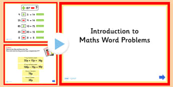 Introduction to Word Problems Maths PowerPoint - numeracy, math