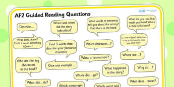 AF2 Guided Reading Question Mat for SEN - SEN, read, books, guide