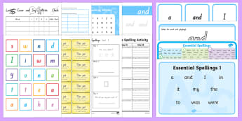 Essential Spelling List 1 Resource Pack-Australia - NZ Literacy Resources