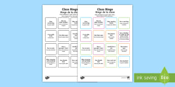 Class Welcome Transition Bingo English/Spanish - Class Welcome Transition Bingo Board - bingo, bingo board, class welcome, class welcome bingo board,