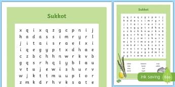 Sukkot Word Search