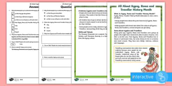 KS1 Gypsy, Roma and Traveller History Month Differentiated Comprehension Go Respond  Activity Sheets - KS1 GRTHM, Gypsy, Roma, Traveller History Month, Gypsies, Travellers, reading comprehension, reading