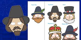 Gunpowder Plot Stick Puppets - gunpowder plot, stick puppets, gunpowder, plot, stick, puppets, guy fawkes