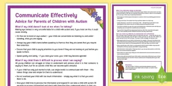 Effective Communication: Children with Autism Adult Guidance - autism, asd, child, parent, communication, communicate, speak, talk, tips, guidance, help