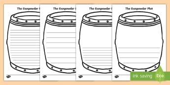 The Gunpowder Plot Writing Frames - The Gunpowder Plot Writing Frames   - writing, frames, Story, Bonfire night, page border, writing te