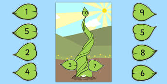 Number Bonds to 10 Beanstalk Activity - number bonds, 10, beanstalk, activity, number, bonds