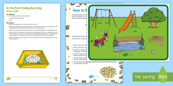 At the Park Finding Busy Bag Resource Pack for Parents - EYFS Parks and Gardens, playgrounds, play park, sensory, baby