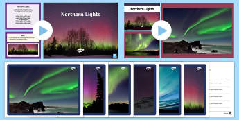 Northern Lights Poetry Resource Pack - northern lights, poetry, imagery, similes, metaphors.