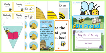 Busy Bees Classroom Set-up Display Pack