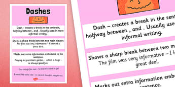 Dash Punctuation Poster - dash, punctuation, poster, display