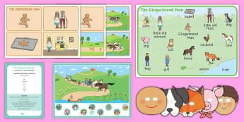 The Gingerbread Man Listen and Retell Oral Language Activity Pack - speaking, communicating, understanding, exploring, using, new language curriculum, story,Irish