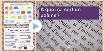 A quoi ça sert un poème Présentation - french, presentation, france, poem, pronunciation