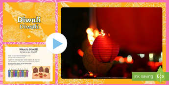 Diwali PowerPoint English/French - Diwali Powerpoint - Diwali, religion, hindu, hanoman, rangoli, sita, ravana, pooja thali, rama, laks