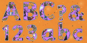 Halloween Themed Display Lettering-halloween, themed, display, lettering, display lettering, halloween lettering, halloween display