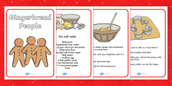 Gingerbread People Recipe - gingerbread, people, ginger bread, gingerbread people, gingerbread recipe, recipe, recipe cards, recipe instructions, how to make, baking, cooking, baking gingerbread men, how to make gingerbread men, recipes for kids, chi