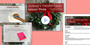 A Christmas Carol Lesson Pack 7: Scrooge's Transformation 3 - Stave Five - christmas carol, scrooge, transform