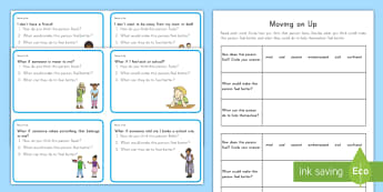 Kindergarten to Grade 2 Transition Scenario Cards  - Back to School, Transition, Kindergarten, 1st grade, first grade, 2nd grade, second grade, scenario
