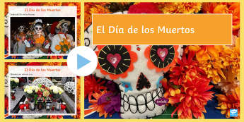 Mexican Day of the Dead Photo PowerPoint Spanish - halloween, day, death, festivals, celebrations, traditions, mexico