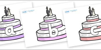 Phoneme Set on Wedding Cakes - Phoneme set, phonemes, phoneme, Letters and Sounds, DfES, display, Phase 1, Phase 2, Phase 3, Phase 5, Foundation, Literacy