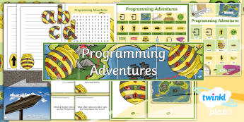 PlanIt D&T Upper KS2 - Programming Adventures Additional Resources - bee bot, bee-bot, floor robots, programming, input, output devices